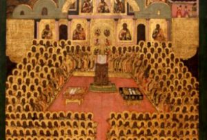 Bildquelle: https://commons.wikimedia.org/wiki/File:Seventh_ecumenical_council_(Icon).jpg
