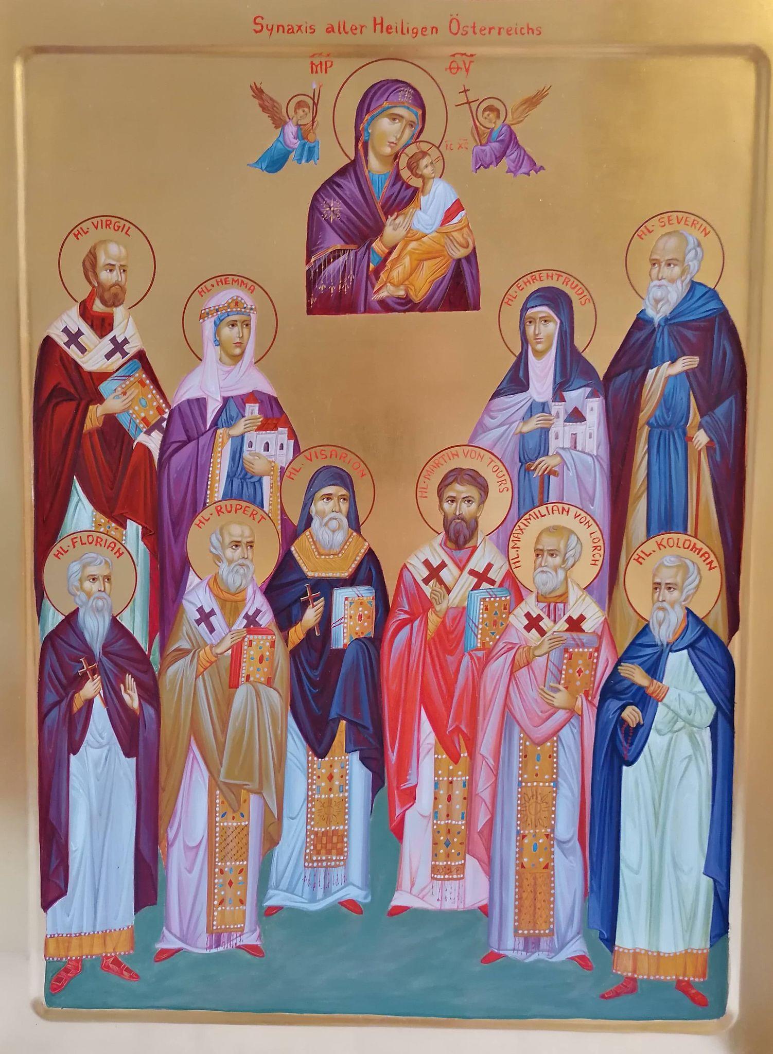 Ikone der Synaxis der Heiligen Österreichs