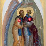 Ausschnitt der Ikone aller Heiligen der Schweiz
